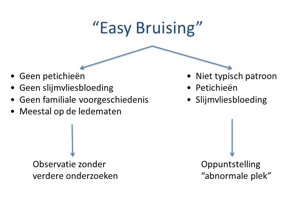Easy Bruising Geen petichieën Geen slijmvliesbloeding
