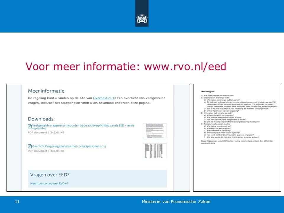 Voor meer informatie: www.rvo.nl/eed