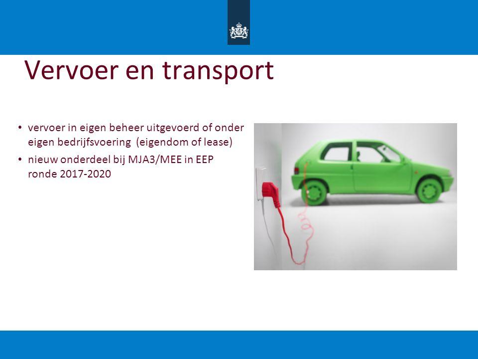 Vervoer en transport vervoer in eigen beheer uitgevoerd of onder eigen bedrijfsvoering (eigendom of lease)