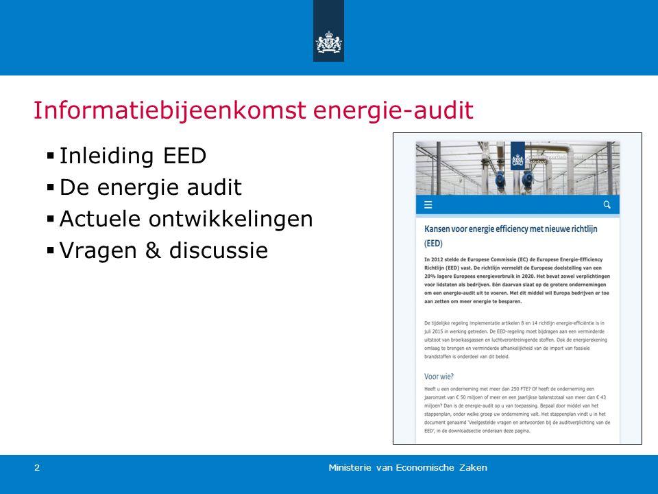 Informatiebijeenkomst energie-audit