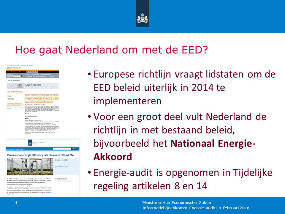 Energie-audit is opgenomen in Tijdelijke regeling artikelen 8 en 14
