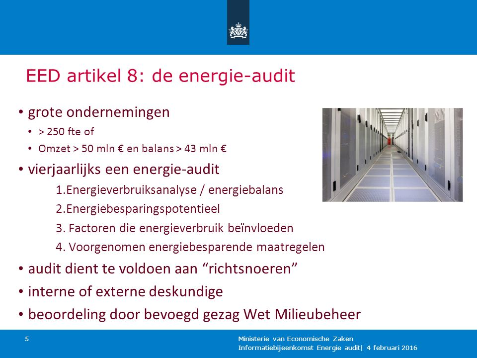 EED artikel 8: de energie-audit
