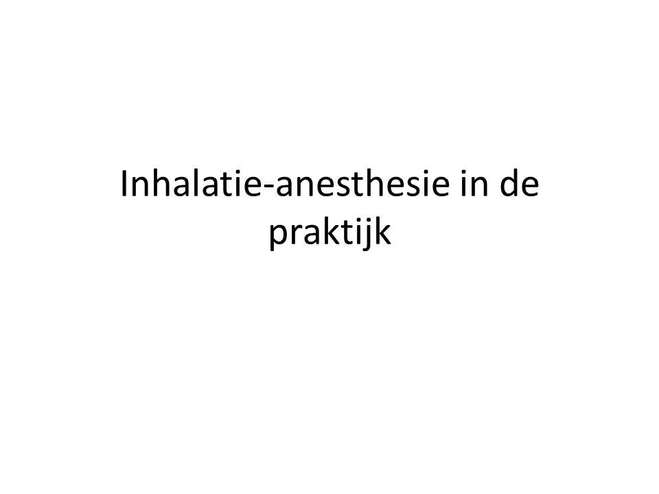 Inhalatie-anesthesie in de praktijk