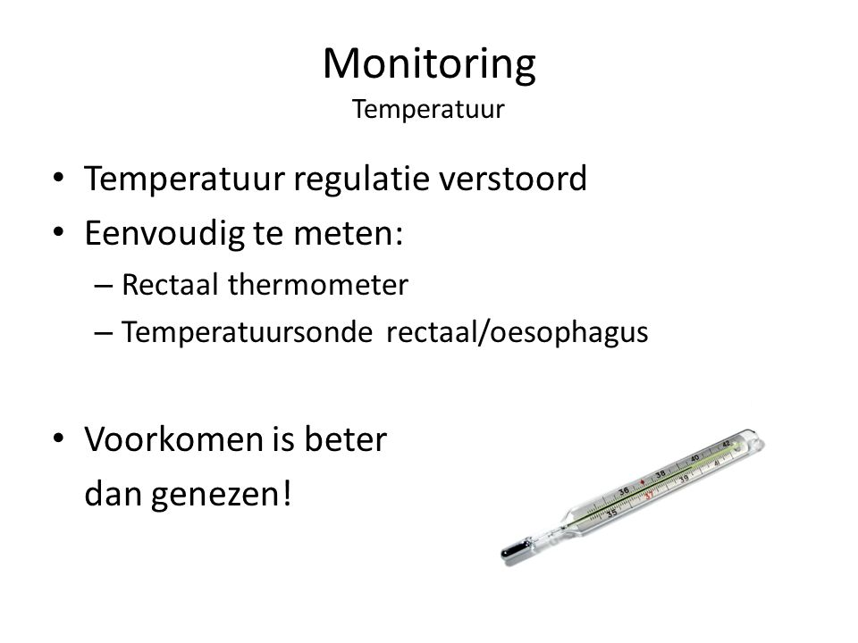 Monitoring Temperatuur