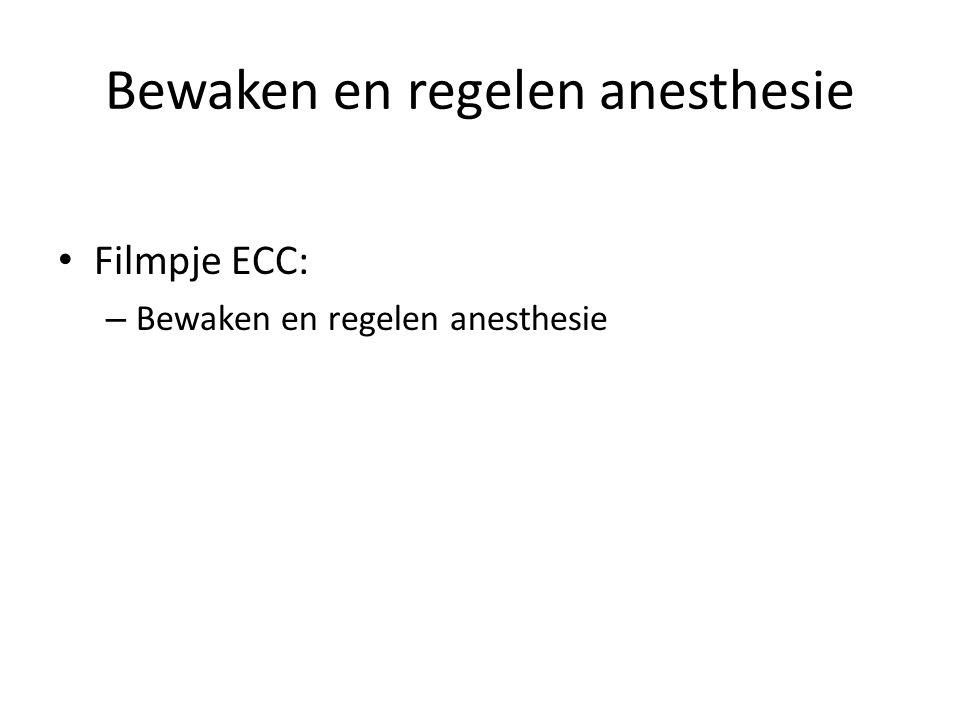Bewaken en regelen anesthesie
