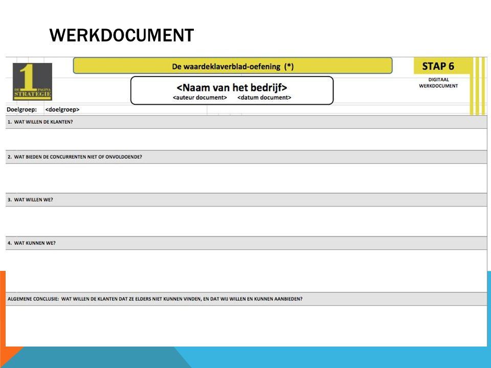 Werkdocument