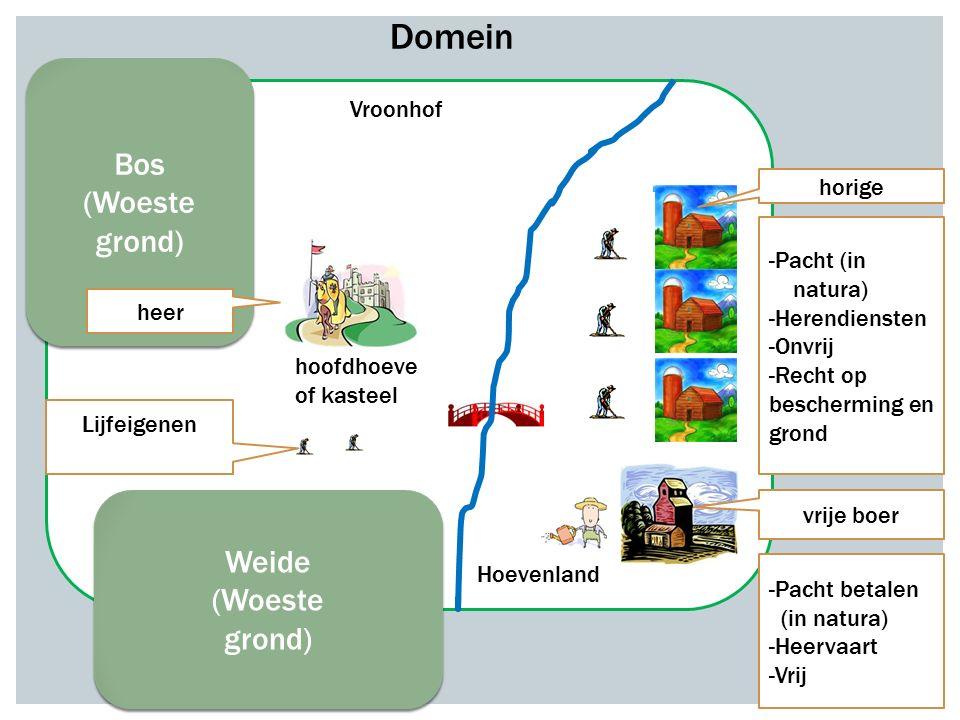 Domein Bos (Woeste grond) Weide (Woeste grond) Vroonhof horige