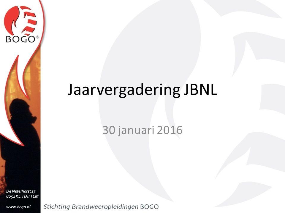 Jaarvergadering JBNL 30 januari 2016 De Netelhorst 17 8051 KE HATTEM