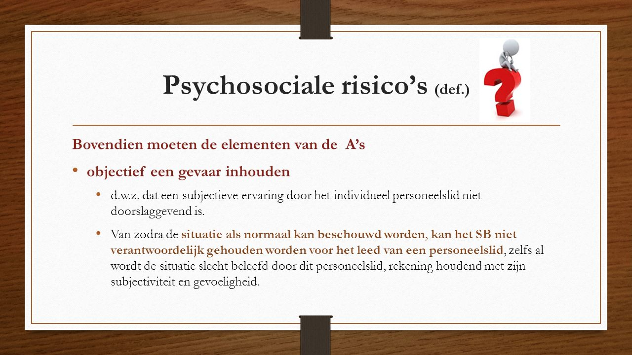 Psychosociale risico's (def.)