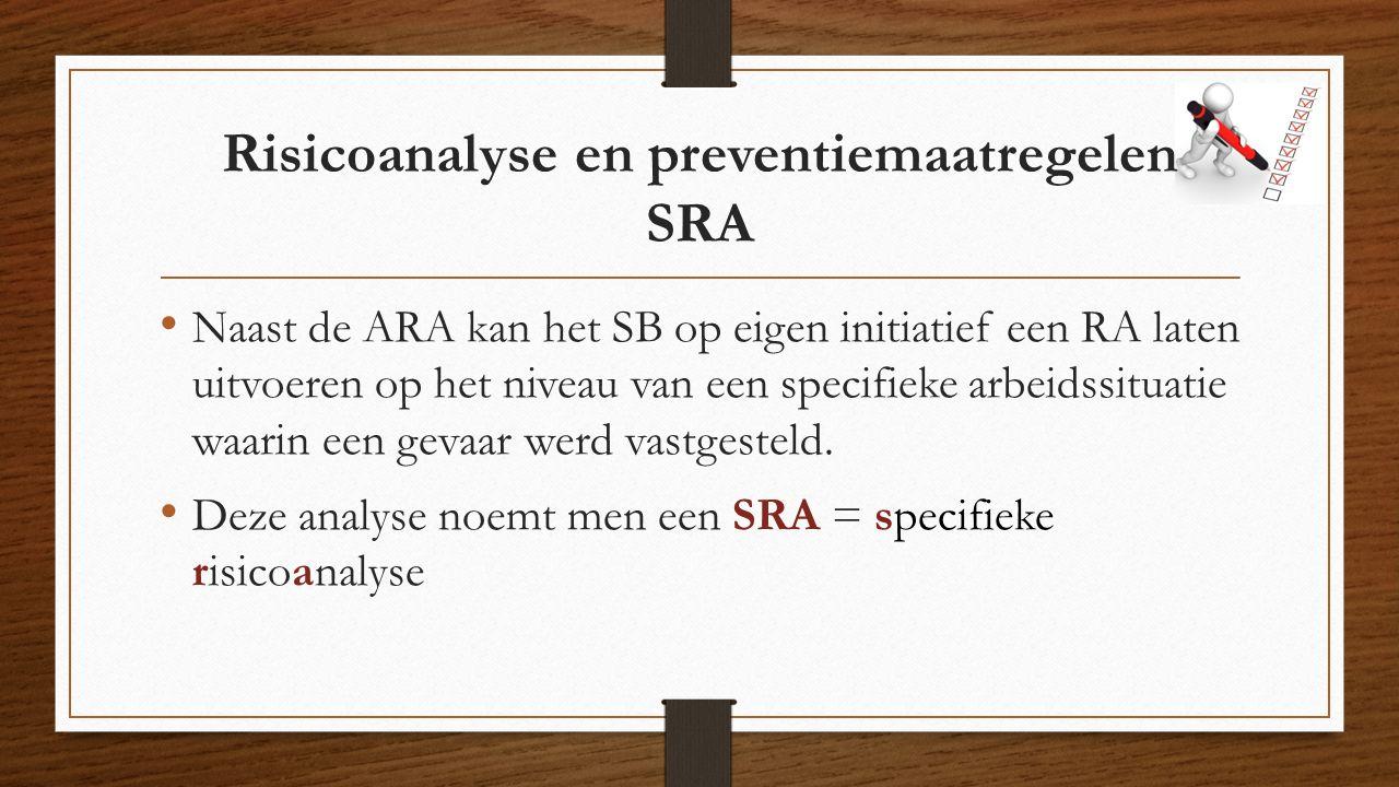 Risicoanalyse en preventiemaatregelen SRA
