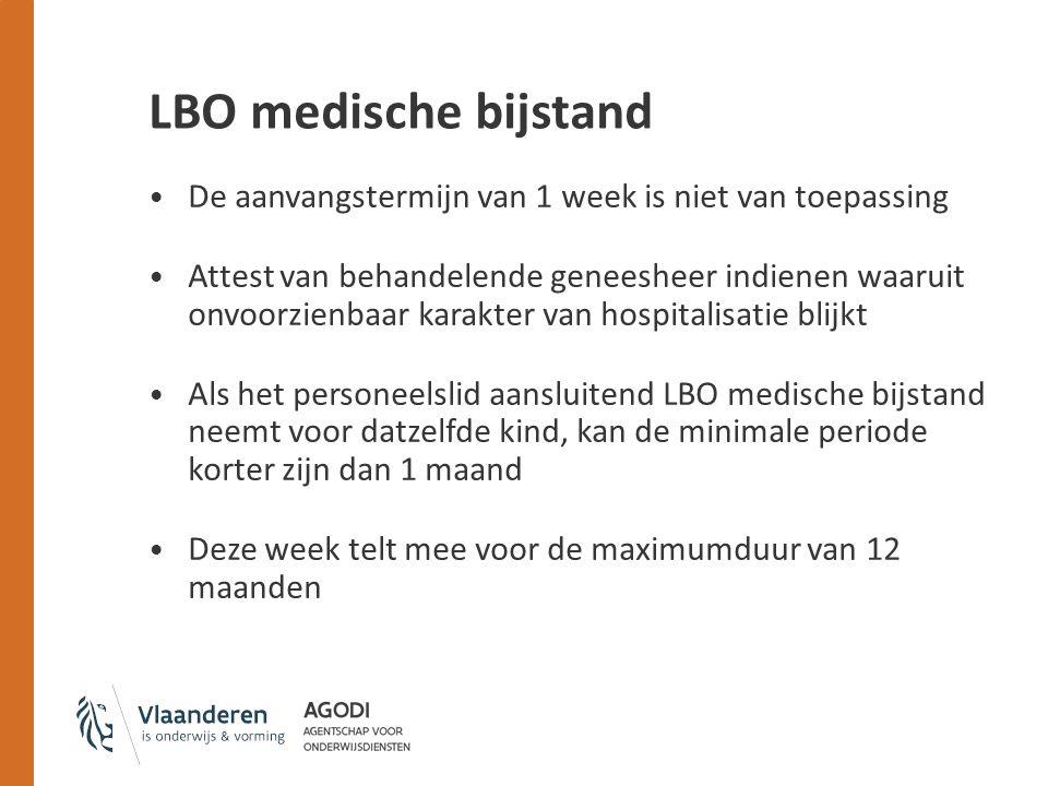 LBO medische bijstand De aanvangstermijn van 1 week is niet van toepassing.