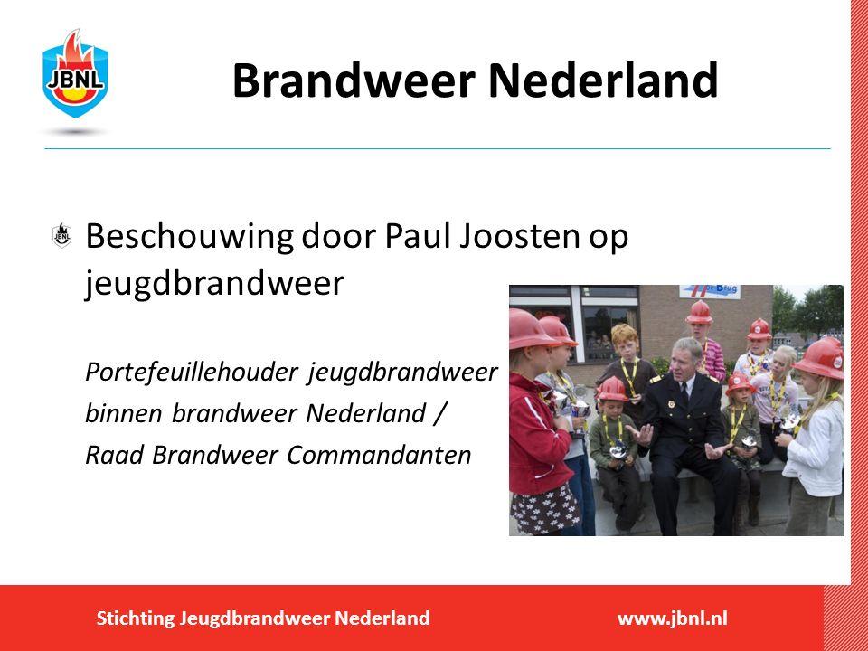 Brandweer Nederland Beschouwing door Paul Joosten op jeugdbrandweer