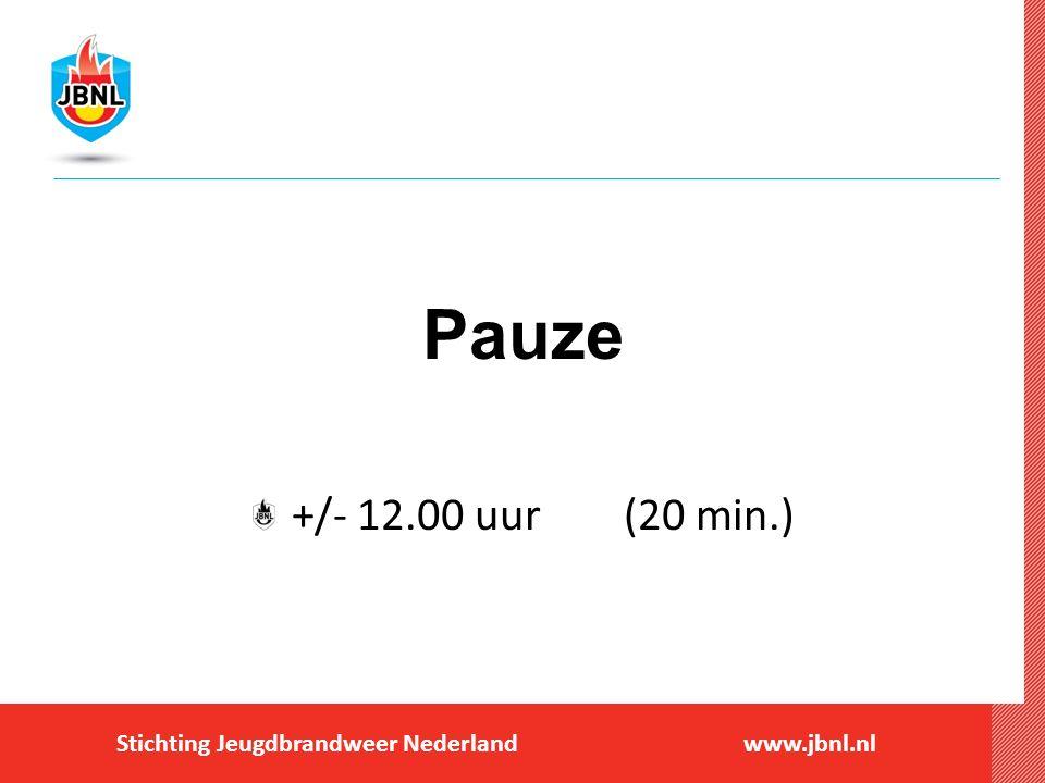 Pauze +/- 12.00 uur (20 min.)