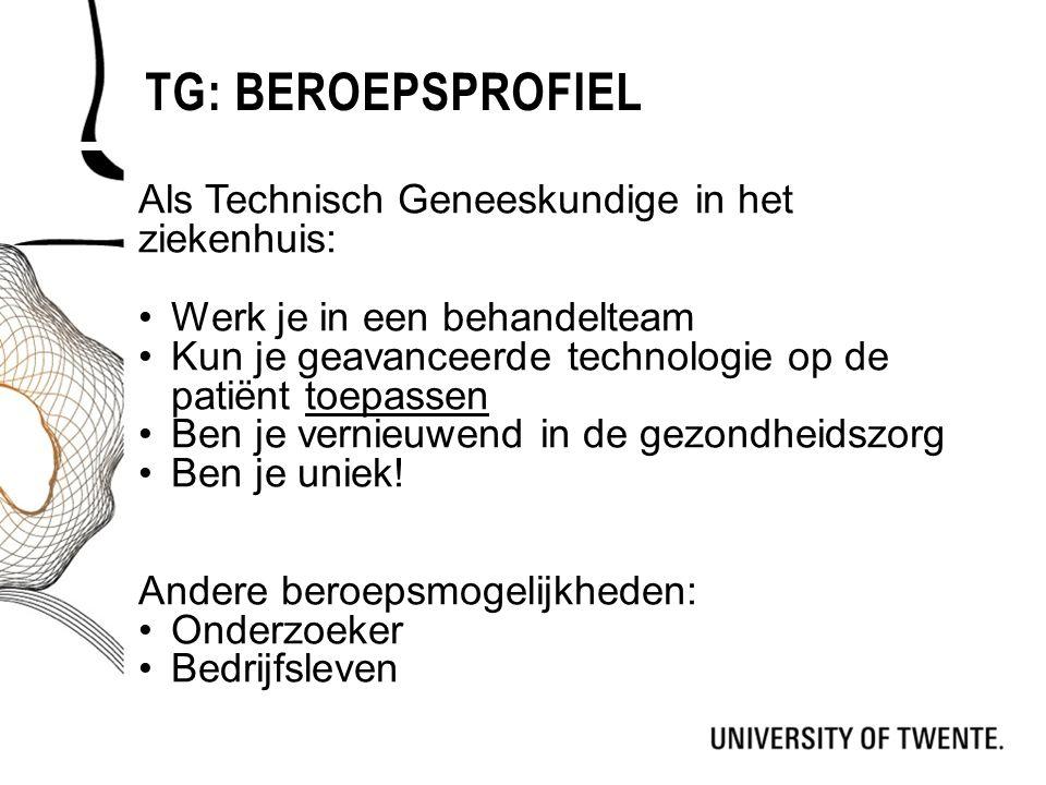 Tg: Beroepsprofiel Als Technisch Geneeskundige in het ziekenhuis: