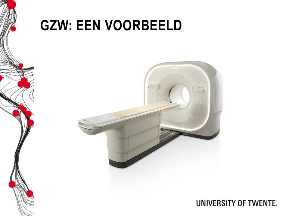 GZW: Een voorbeeld ...Stel een ziekenhuis wil een PET-scan aanschaffen.
