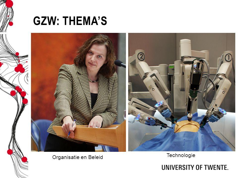 GZW: Thema's Technologie Organisatie en Beleid Organisatie en beleid