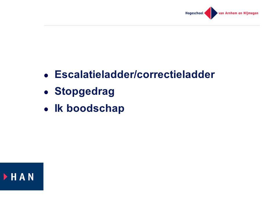 Escalatieladder/correctieladder