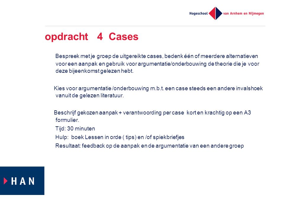 opdracht 4 Cases