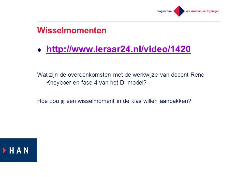 http://www.leraar24.nl/video/1420 Wisselmomenten
