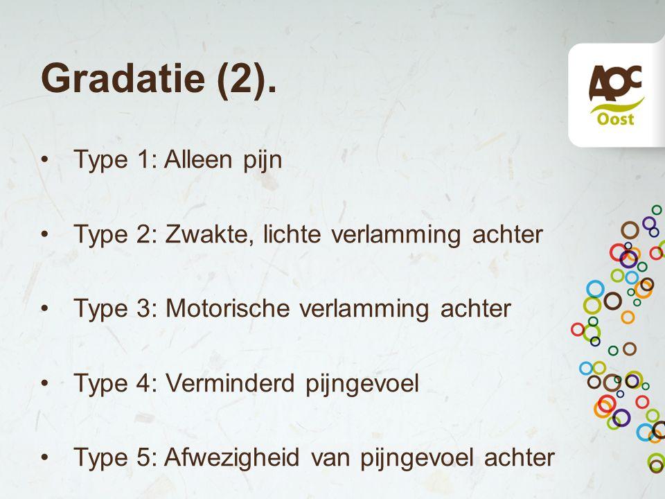 Gradatie (2). Type 1: Alleen pijn