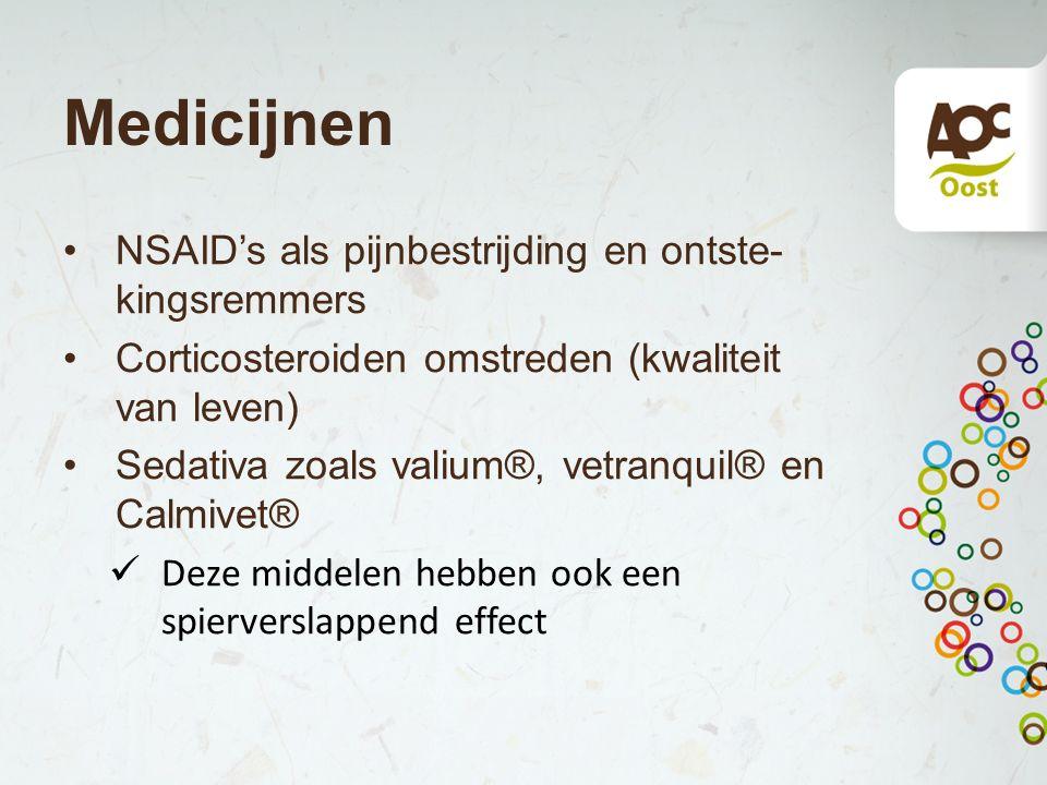 Medicijnen NSAID's als pijnbestrijding en ontste-kingsremmers