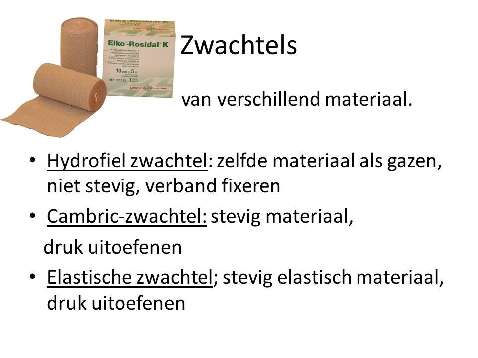 Zwachtels Rollen verband van verschillend materiaal.