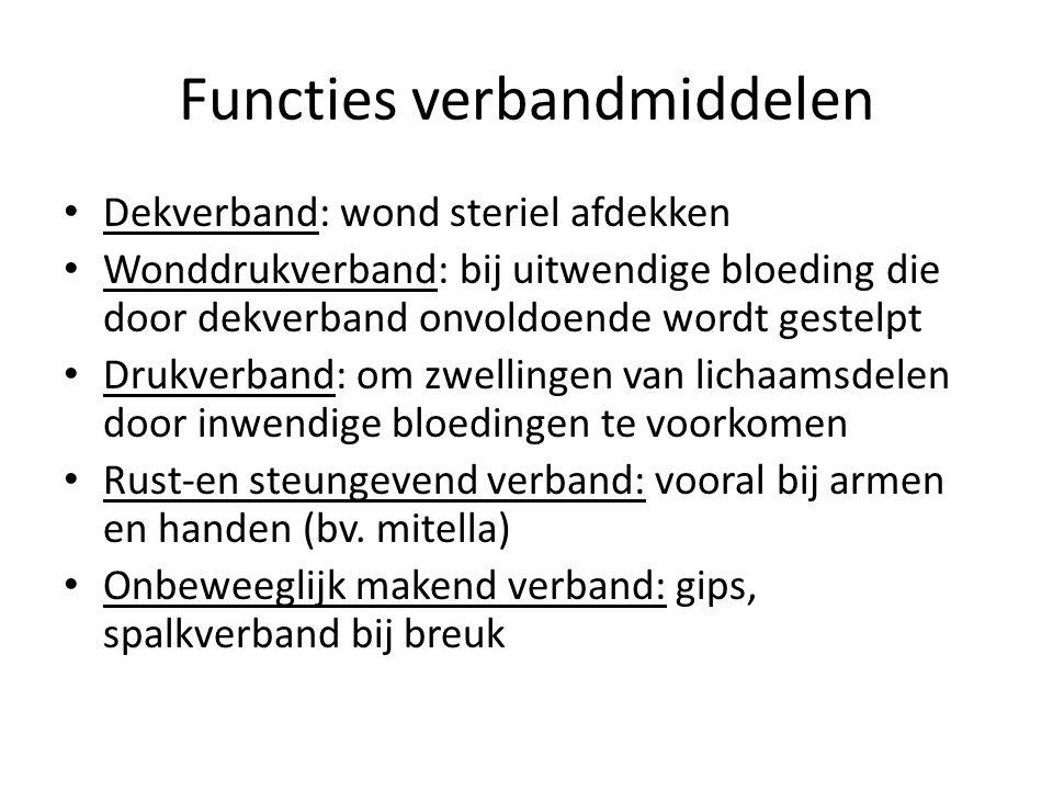Functies verbandmiddelen