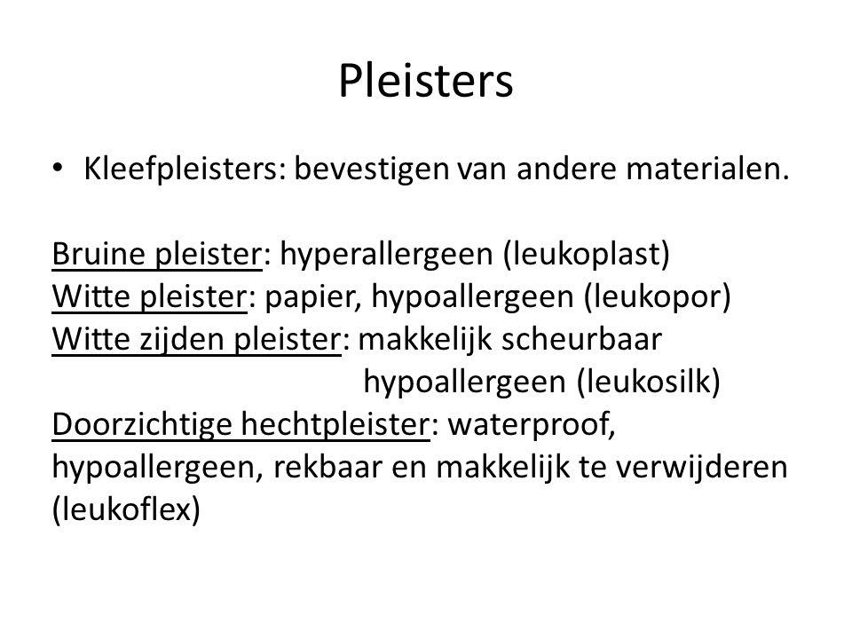 Pleisters Kleefpleisters: bevestigen van andere materialen.