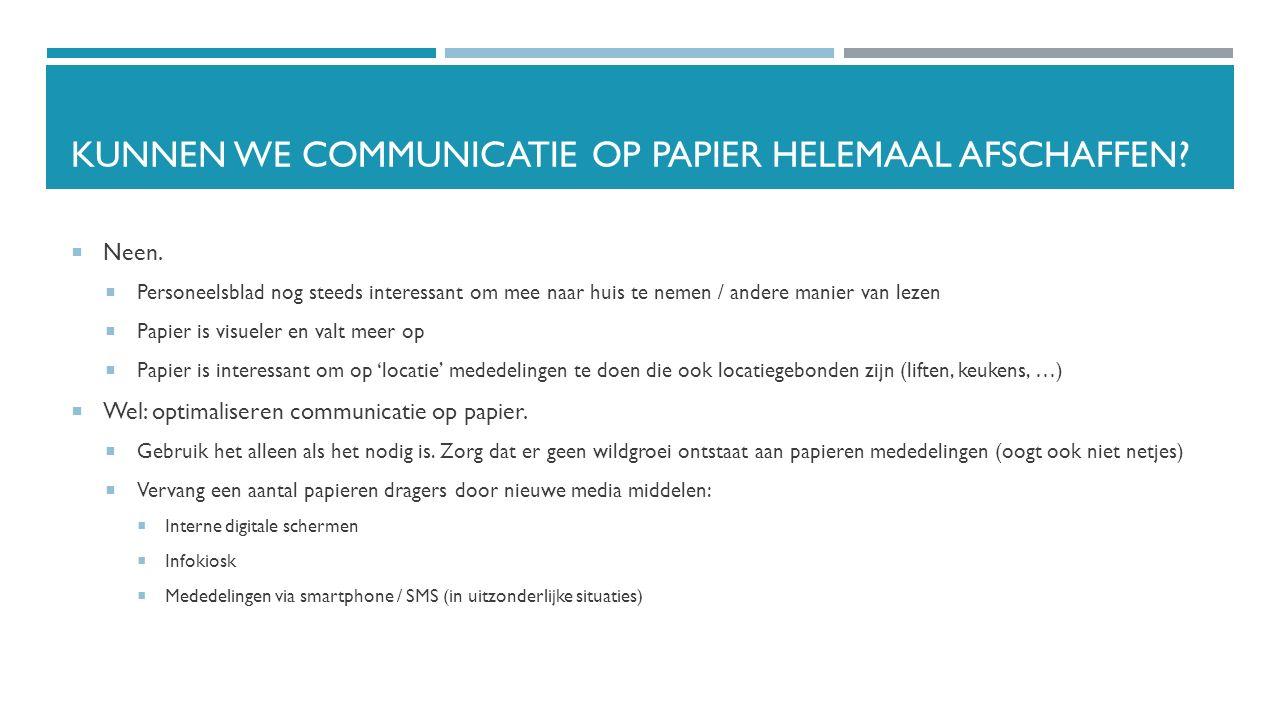 Kunnen we communicatie op papier helemaal afschaffen