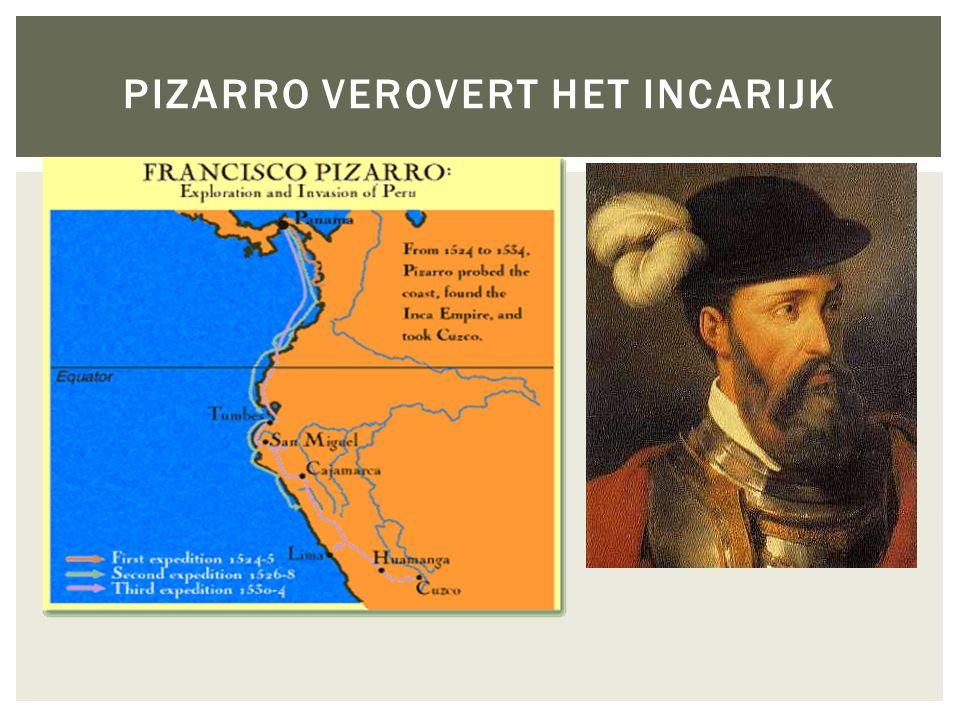 Pizarro verovert het Incarijk