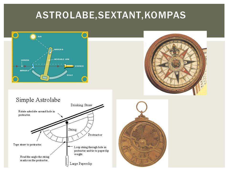 Astrolabe,sextant,kompas