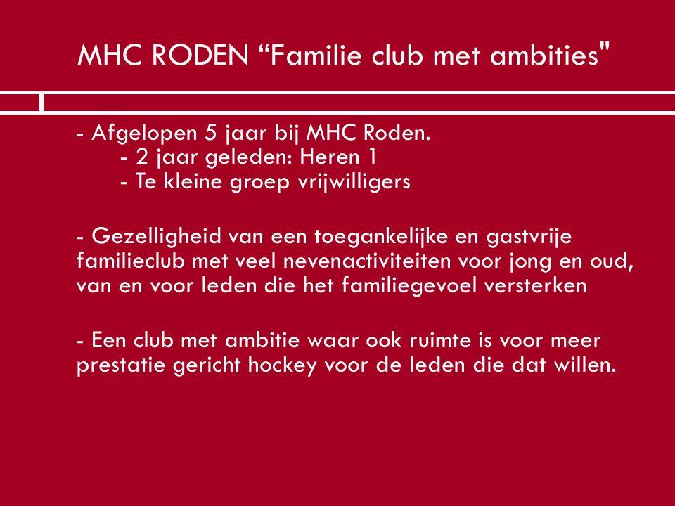 MHC RODEN Familie club met ambities