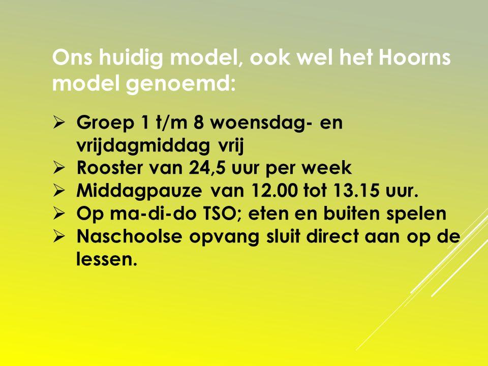 Ons huidig model, ook wel het Hoorns model genoemd: