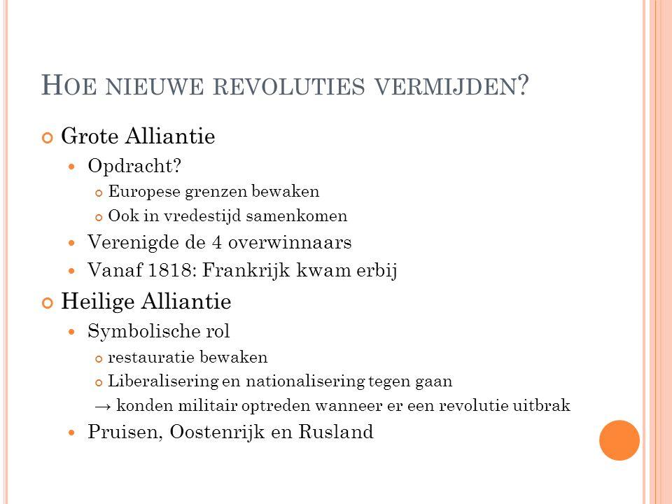 Hoe nieuwe revoluties vermijden