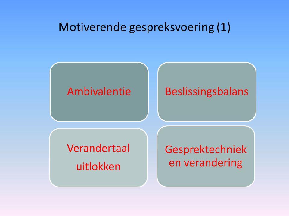 Motiverende gespreksvoering (1)