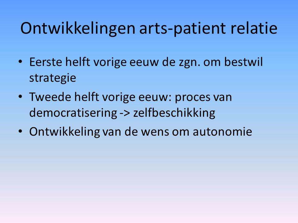 Ontwikkelingen arts-patient relatie