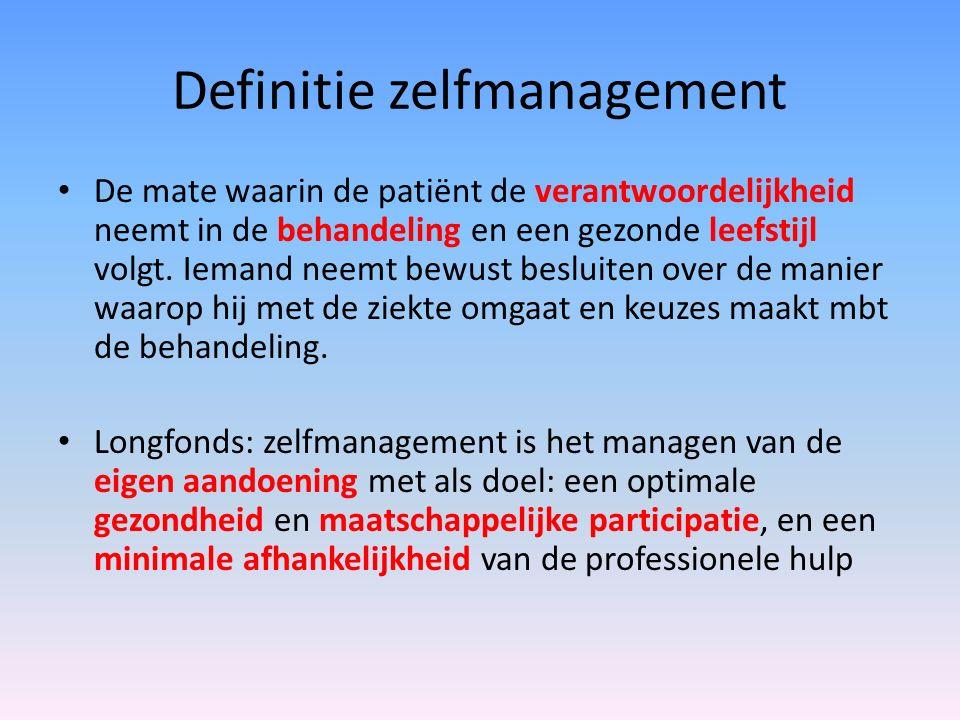 Definitie zelfmanagement