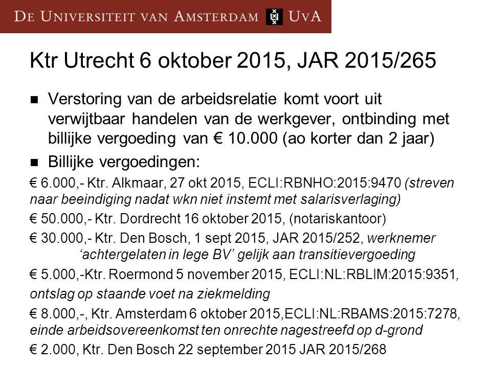 Ktr Utrecht 6 oktober 2015, JAR 2015/265
