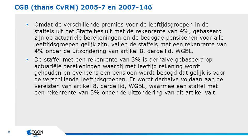 CGB (thans CvRM) 2005-7 en 2007-146