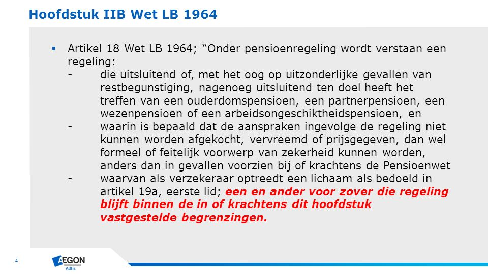 Hoofdstuk IIB Wet LB 1964