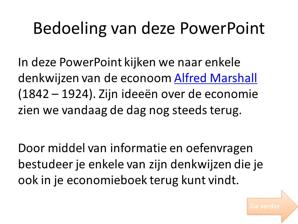 Bedoeling van deze PowerPoint