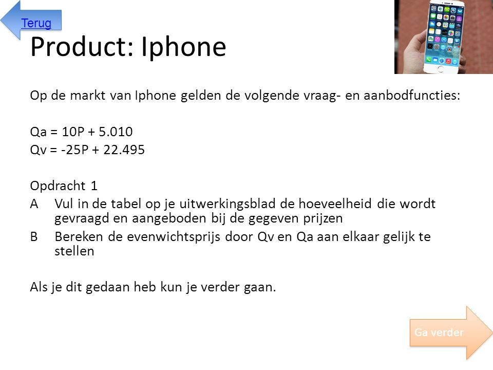 Terug Product: Iphone.