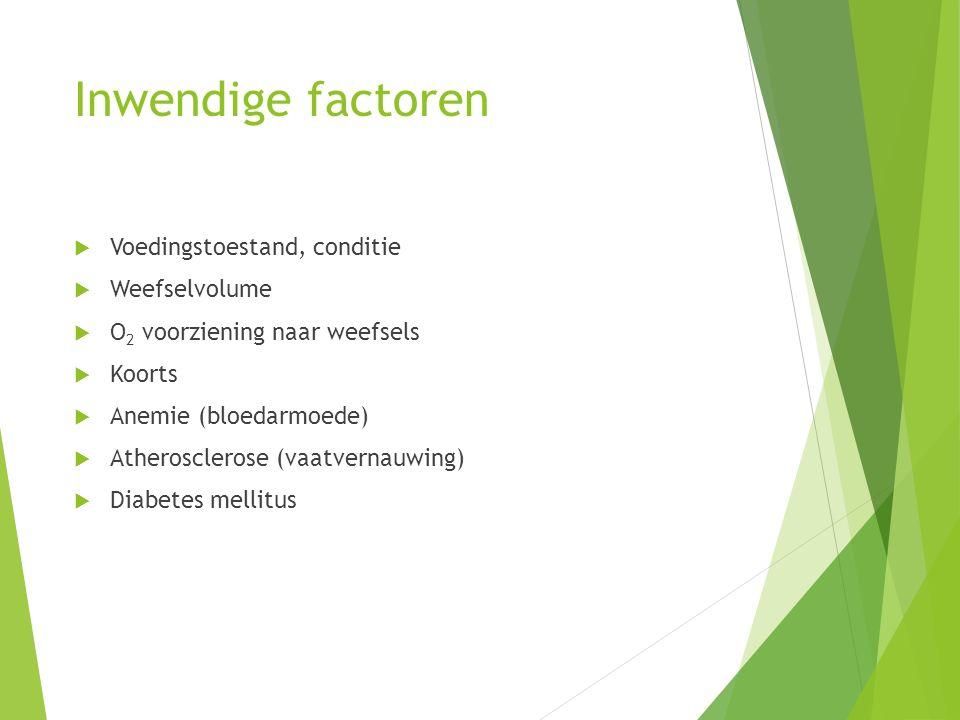 Inwendige factoren Voedingstoestand, conditie Weefselvolume