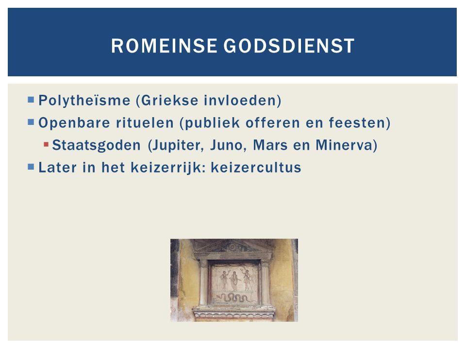 Romeinse godsdienst Polytheïsme (Griekse invloeden)