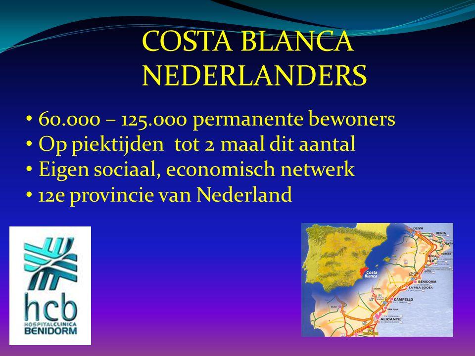 COSTA BLANCA NEDERLANDERS 60.000 – 125.000 permanente bewoners