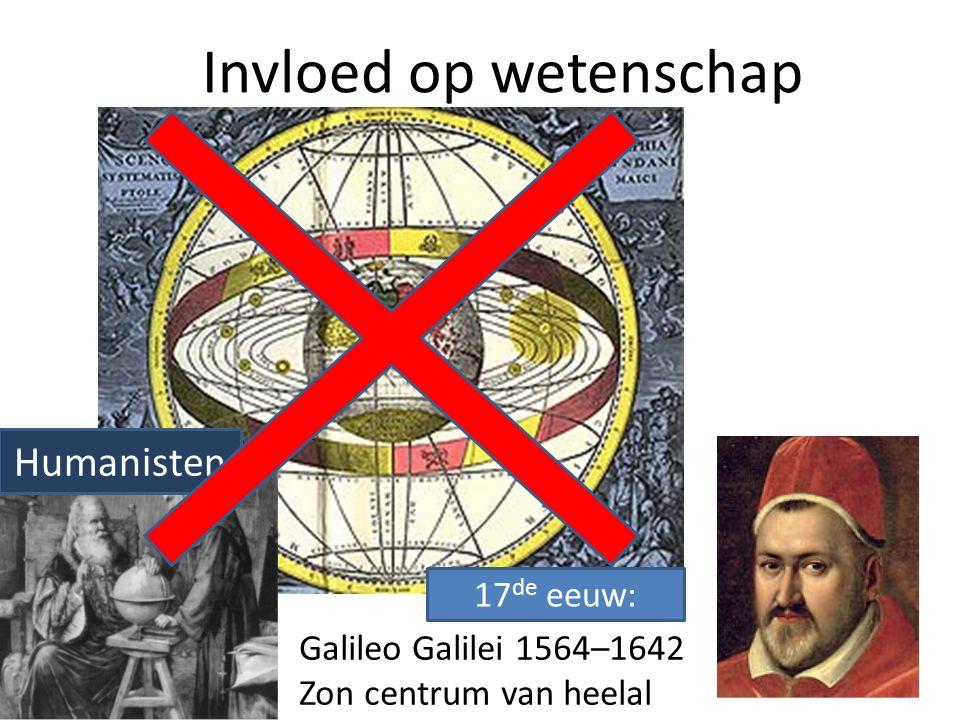 Invloed op wetenschap Humanisten 17de eeuw: Galileo Galilei 1564–1642