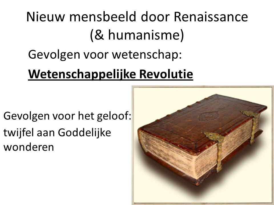 Nieuw mensbeeld door Renaissance (& humanisme)