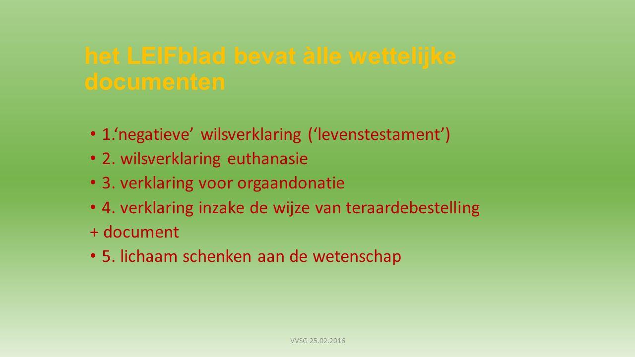 euthanasie verklaring nederland
