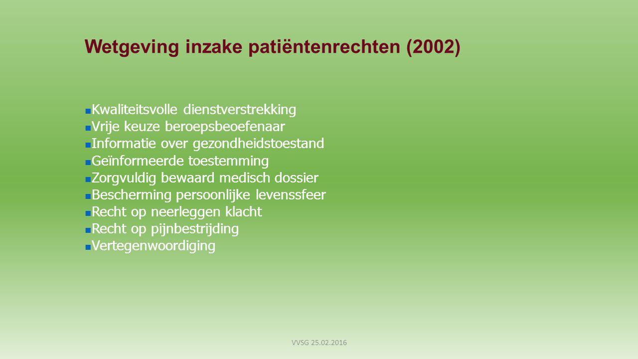Wetgeving inzake patiëntenrechten (2002)