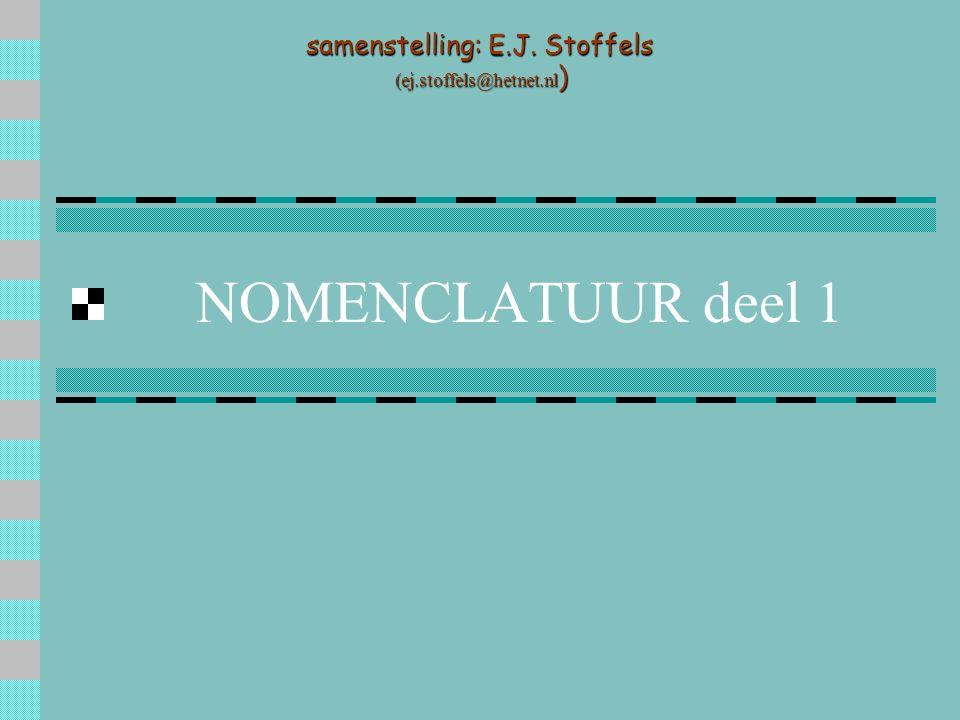 NOMENCLATUUR deel 1 samenstelling: E.J. Stoffels